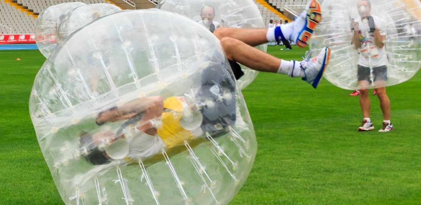 Amsterdam 1-Hour Bubble Football Experience