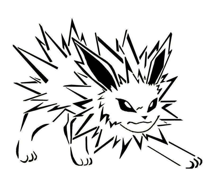 Free Printable Pokemon Jolteon Coloring Pages Dengan Gambar