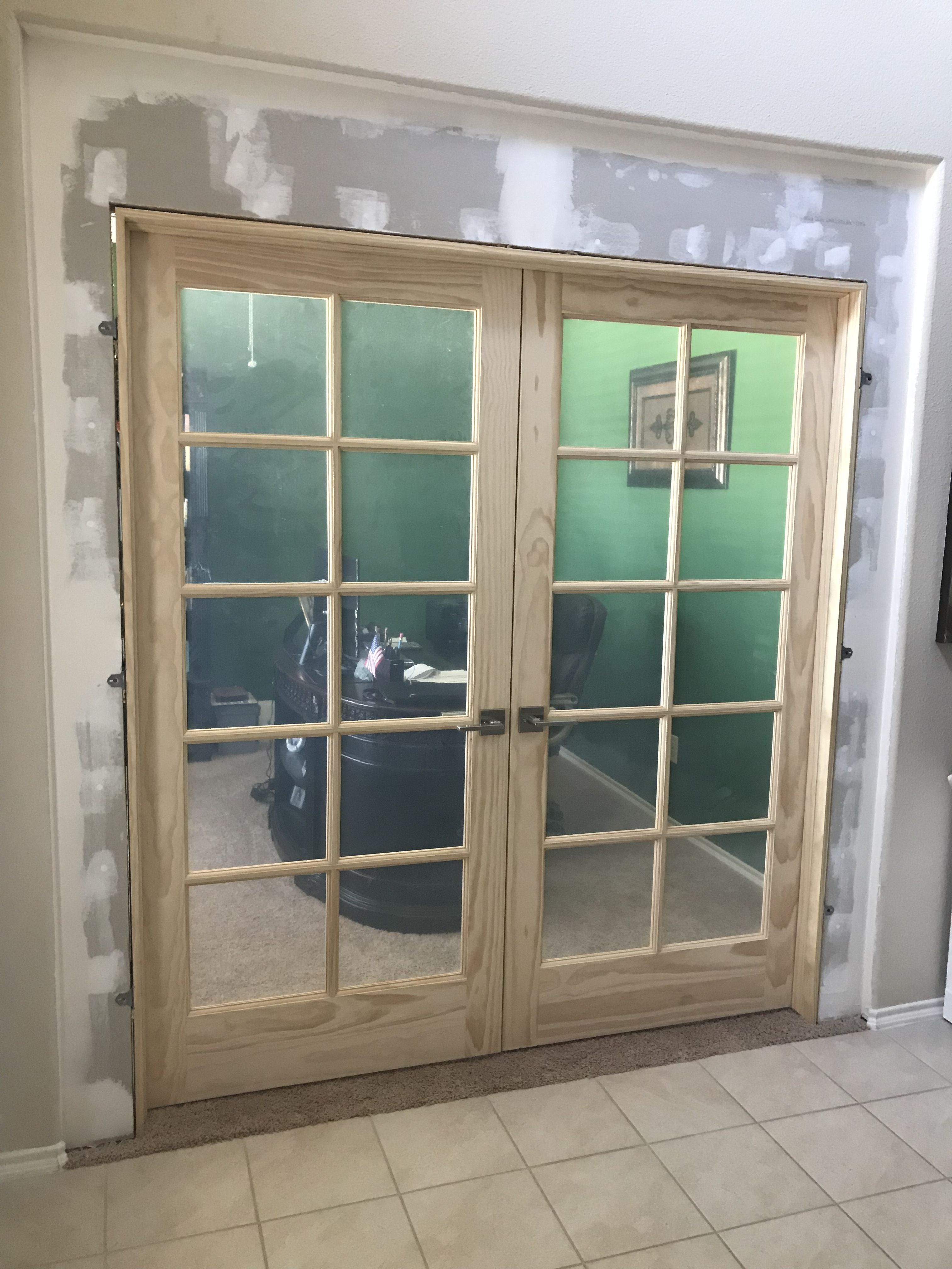 Diy Set A Double French Door  From Dining Room