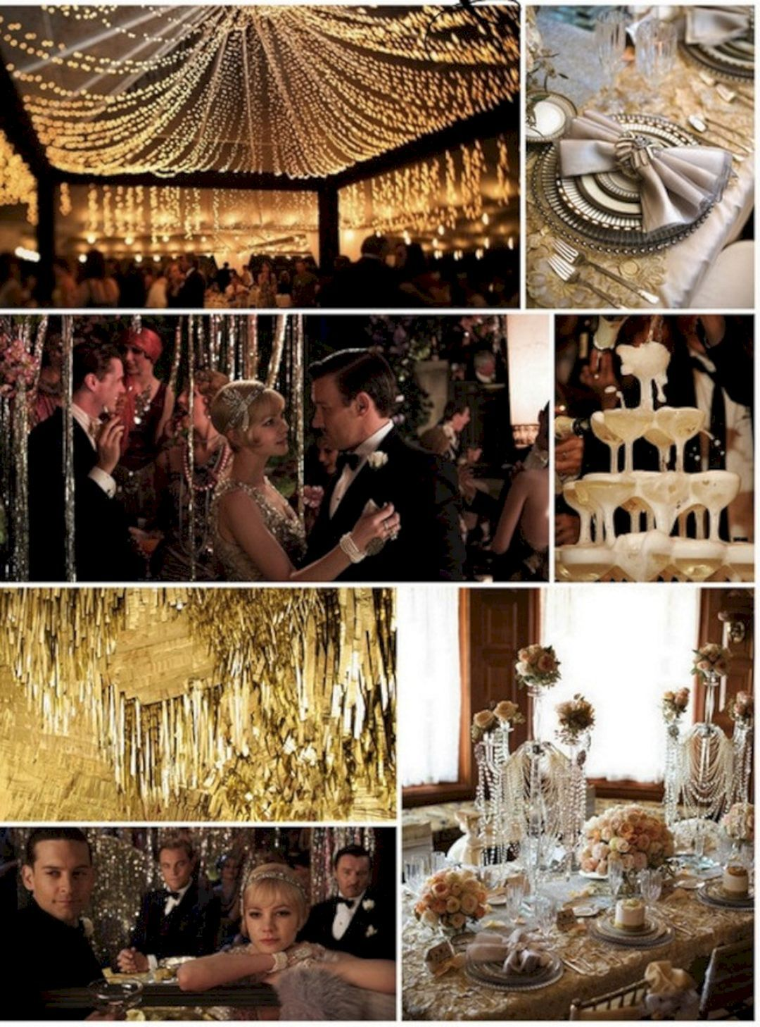 1920s wedding decoration ideas   Awesome Decorations Great Gatsby party Ideas  Gatsby
