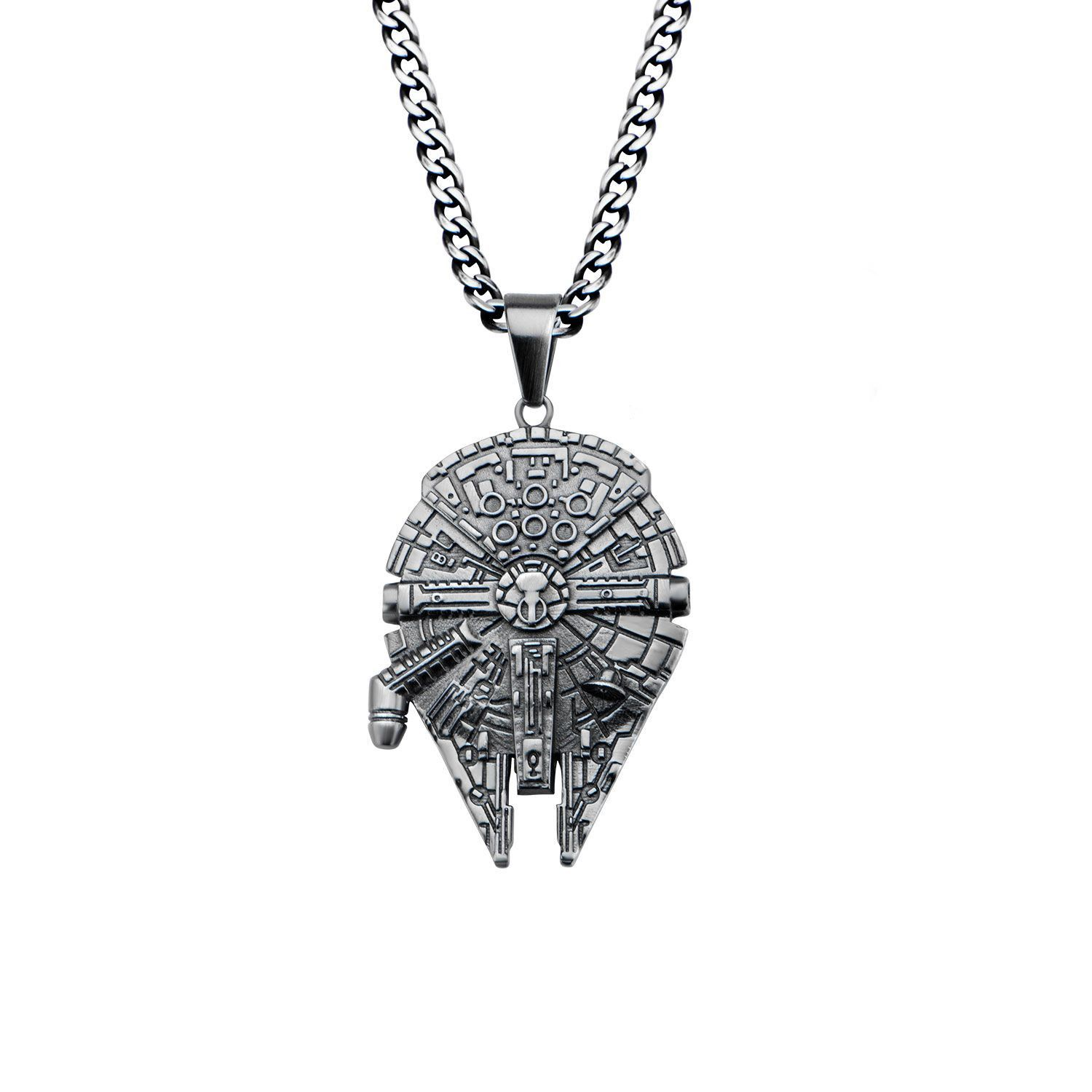 X-WING STAR FIGHTER 3D STAINLESS STEEL PENDANT ON CHAIN NECKLACE STAR WARS