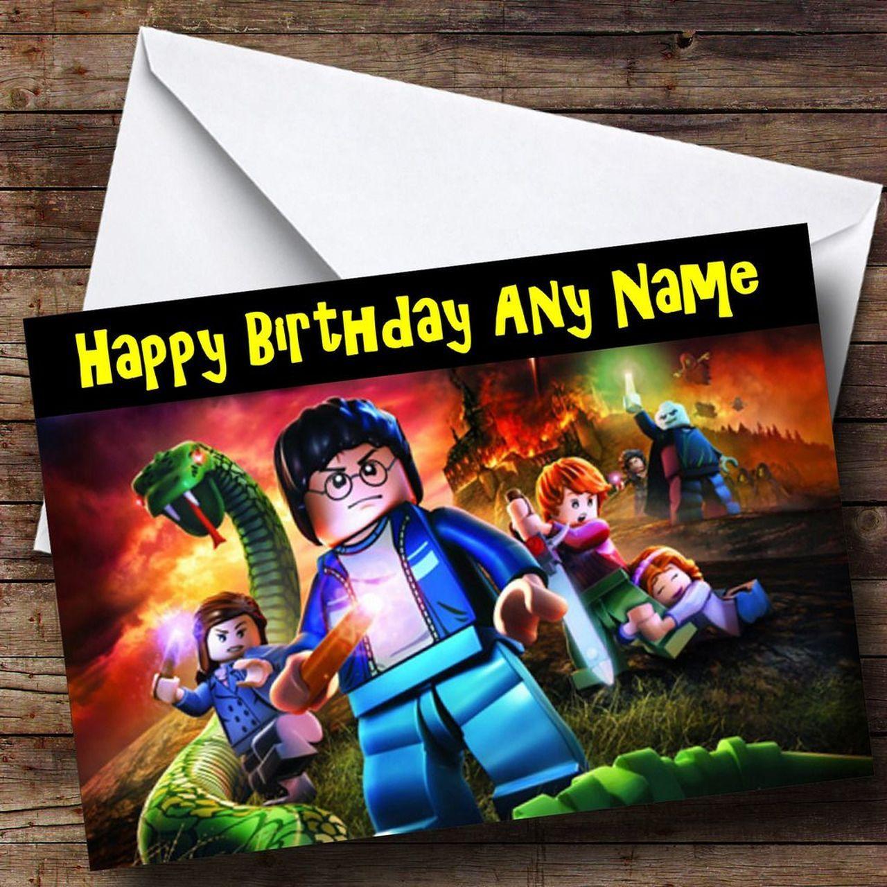 Lego Harry Potter Lego Personalised Birthday Card Personalized Birthday Cards Birthday Cards Personalized Birthday