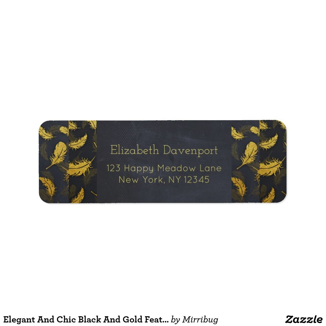 Elegant And Chic Black And Gold Feather Pattern