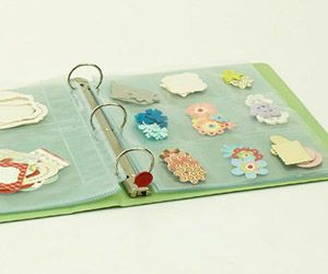 Use Binders and Page Protectors to Store Flat Embellishments
