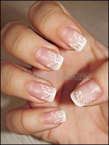 These Are Beautiful Lace Nails Something I Would Do For My Wedding
