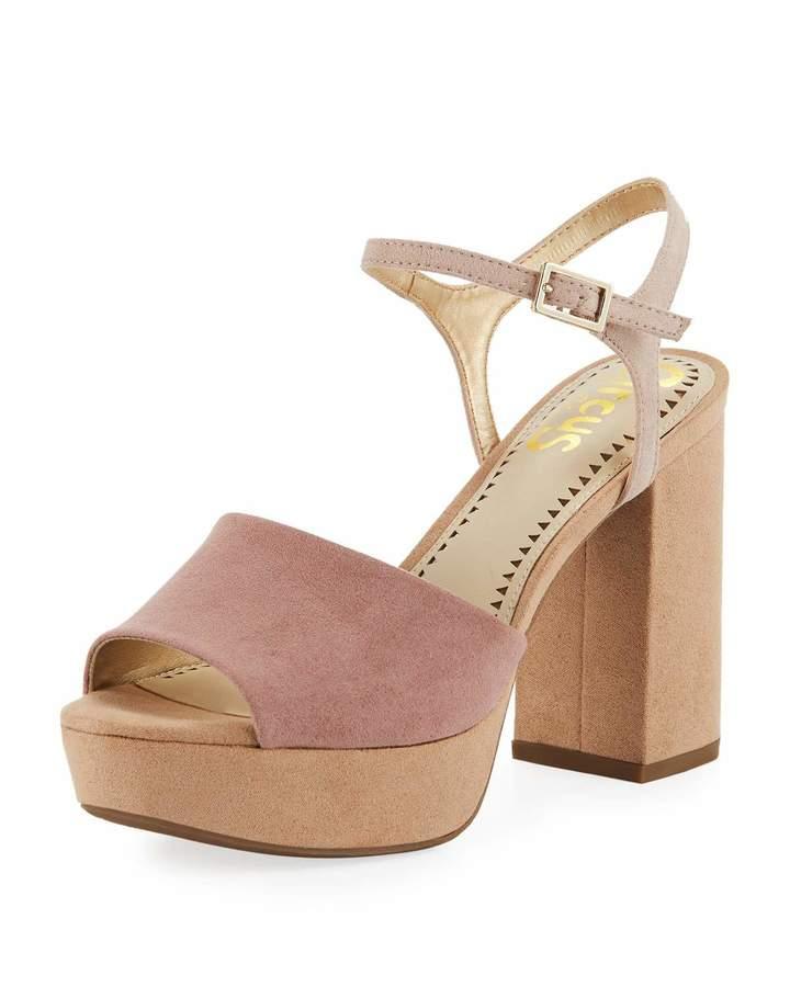 31ba98749a4 Sam Edelman Nakita Colorblock Chunky-Heel Platform Sandal