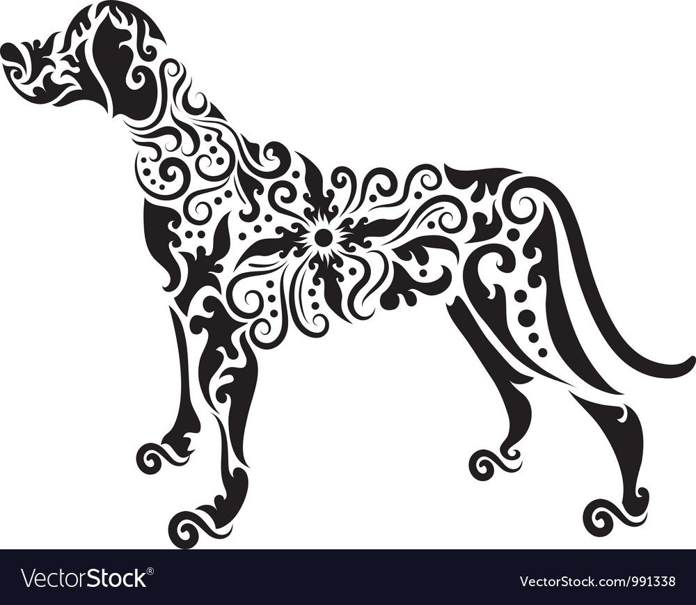 Dog Tatto Vector Image On With Images Dog Tattoos Dog Tattoo