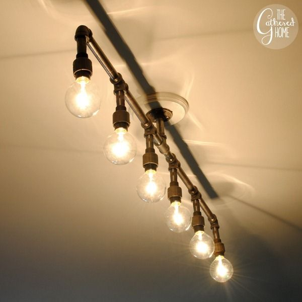 Diy Plumbing Pipe Light Fixture Maybe We Can Make Something Like This But For Above The Vanity