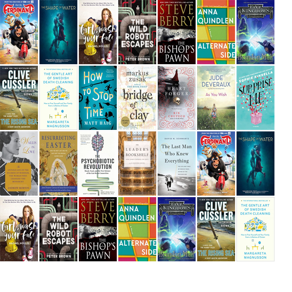 Wednesday March 21 2018 The Lane Memorial Library Has 13 New Bestsellers And