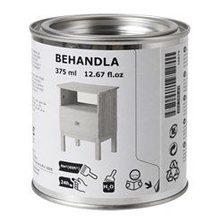 IKEA - BEHANDLA, Bejdse, sort, , Gør overfladen af ubehandlet træ mere holdbar, slidstærk og personlig.