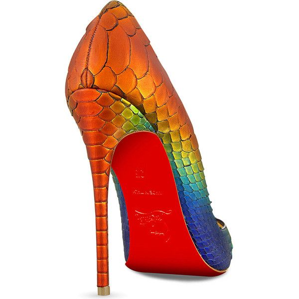 56814f42db9 CHRISTIAN LOUBOUTIN So Kate 120 python rainbow ($1,220) ❤ liked on ...