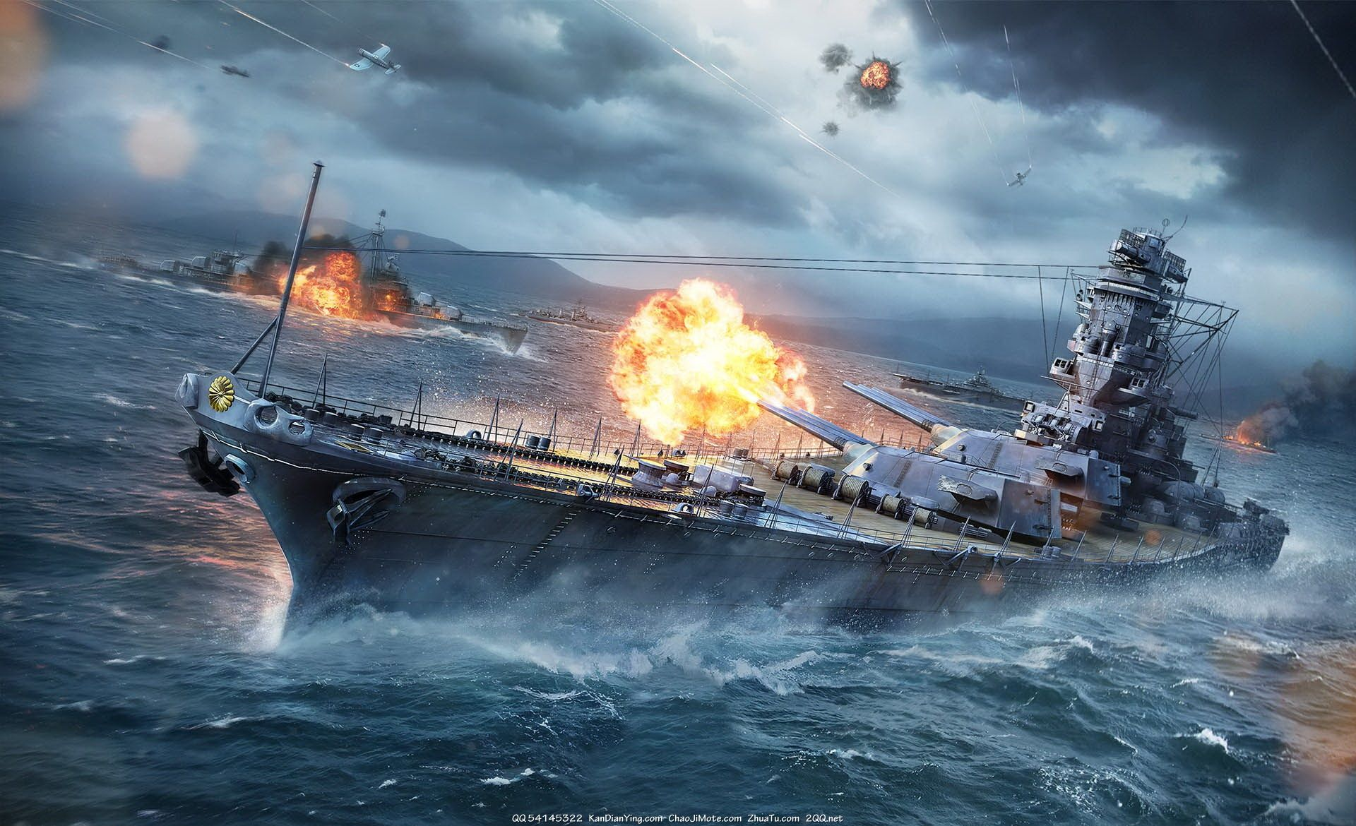Uss Battleship With Images World Of Warships Wallpaper