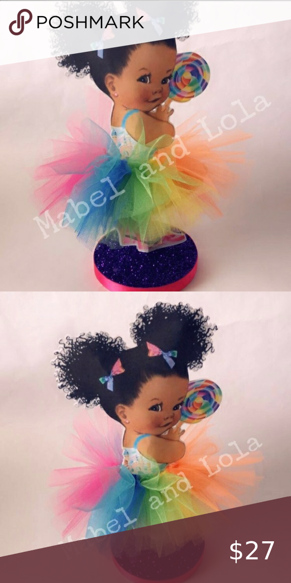 (2) Candy Land Themed Tutu Girl Centerpieces Set of two (2) Super cute table dec...