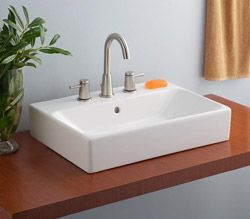 Basement bath -  Cheviot Nuo Overcounter Bath Sink with 8 Inch Drilling