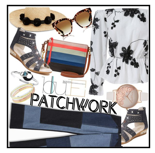 """Patched Up Patchwork"" by westcoastcharmed ❤ liked on Polyvore featuring Victoria, Victoria Beckham, FOSSIL, Olivia Burton, Kate Spade, Dita, Billabong and patchwork"
