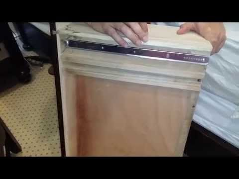 How To Replace Cheap Wood Drawer Slides Found In Cheaper Or Older Dressers With Accuride 1029 Center Mount Sl Dresser Drawer Slides Drawer Slides Drawer Repair