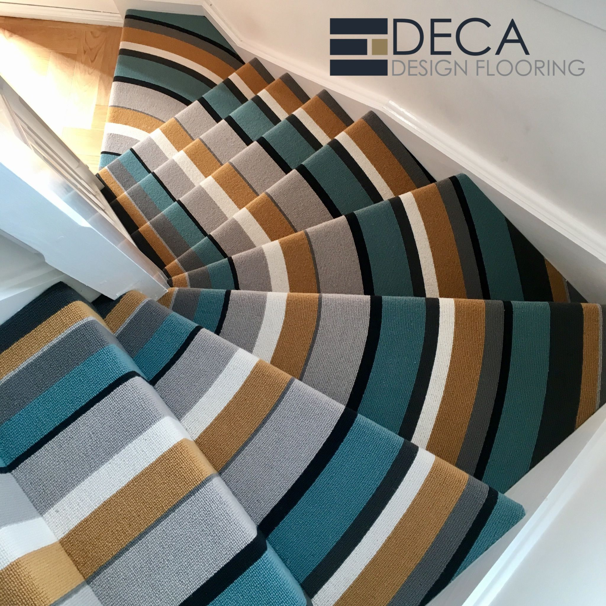 Best Striped Stair Carpet Crucial Trading Audrey Daybreak 400 x 300