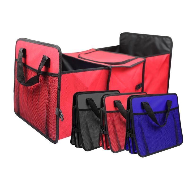 접이식 멀티 기능 구획 직물 자동차 트럭 밴 SUV 저장 바구니 가방 자동차 트렁크 주최자 쿨러 가방