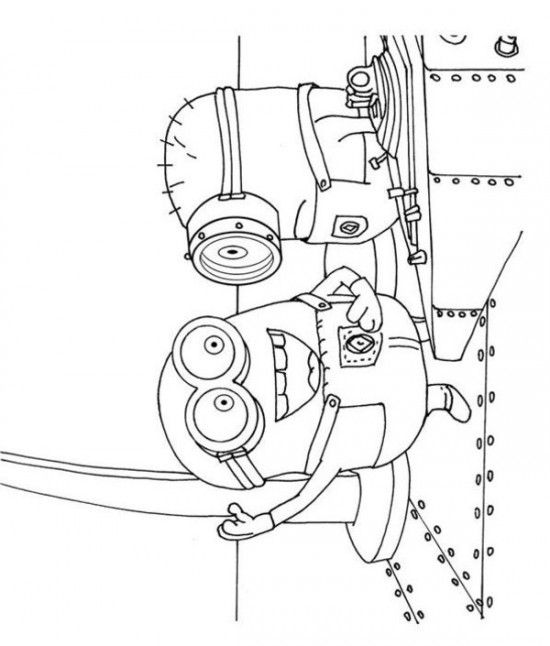 Steward George Minions Despicable Me Coloring Pages 550x646 Picture