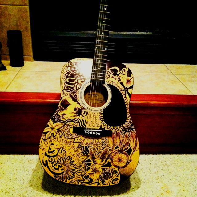 Sharpie Guitar Art Guitar Art Guitar Painting Instruments Art