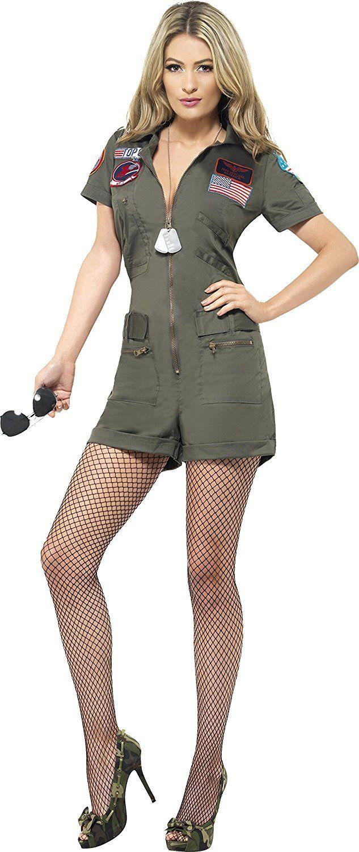 Sexy Damen Top Gun Aviator Kostum Playsuit Und Sonnenbrille Top