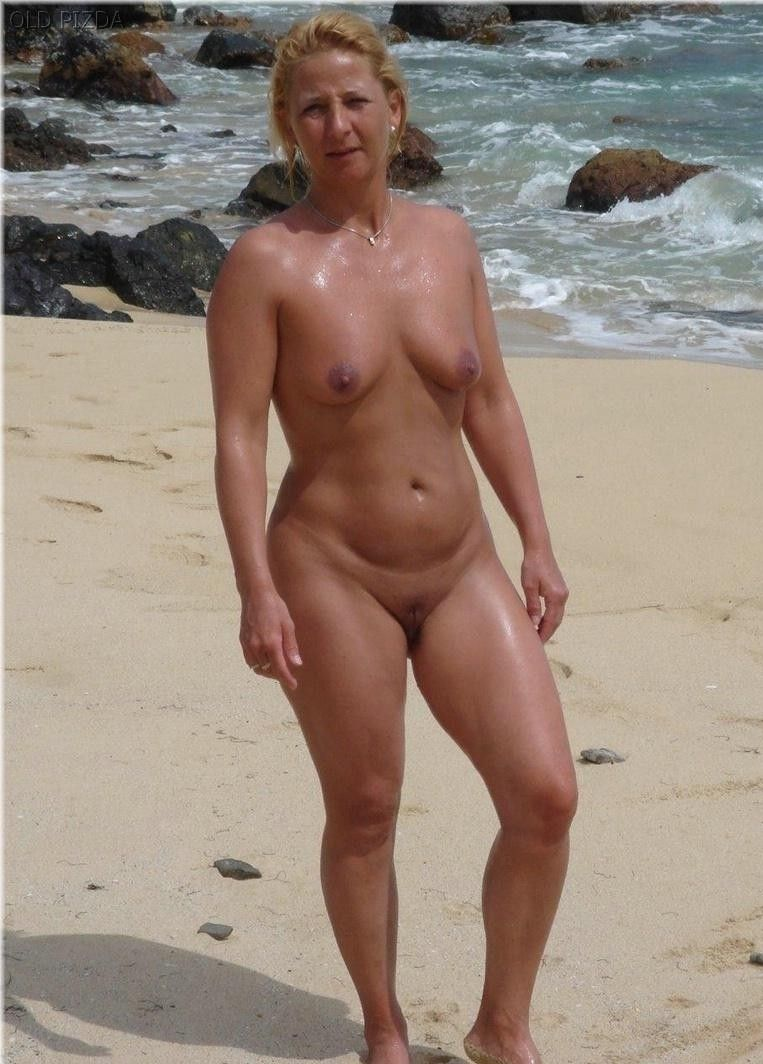 mature naked at beach