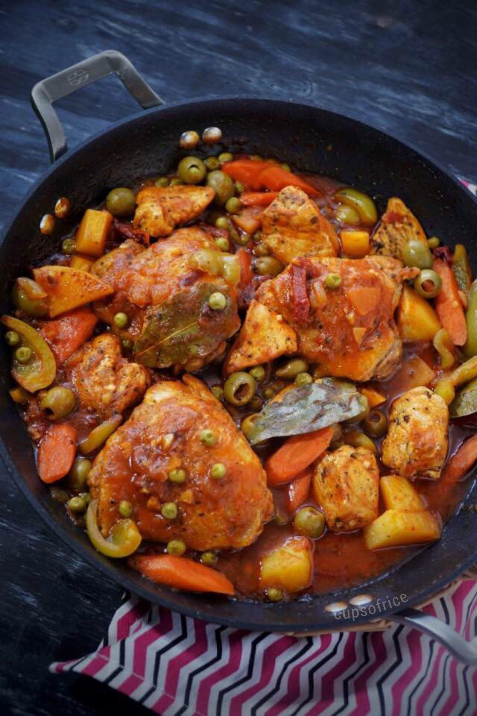 Spanish Style Chicken Afritada Canned Tomato Sauce