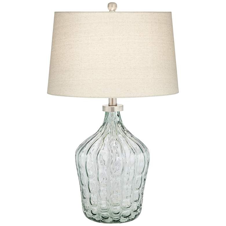 Seagrass Clear Green Art Glass Table Lamp 60m73 Lamps Plus