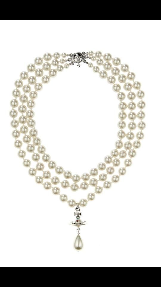 Vivienne Westwood Pearl Necklace. About $800.00. Maybe skip this time. T.T