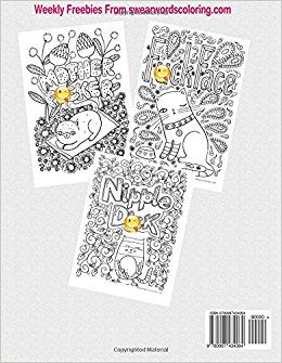 Amazon Creative Sweary Cats Adult Coloring Books Featuring Stress Relieving And Hilarious