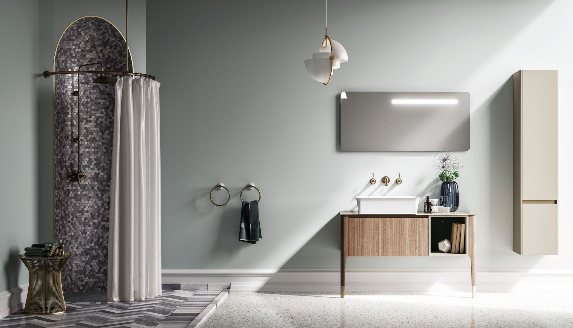 Art Deco Mobili Bagno.Arredobagno Art By Puntotre Home Bagno Arredobagno Bathroom