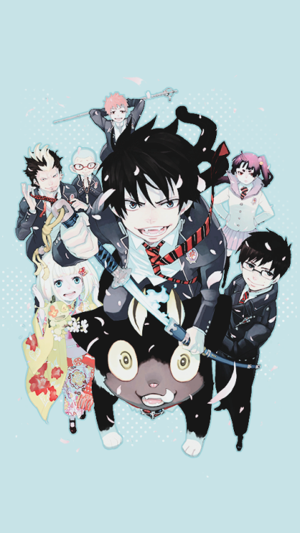 Ao No Exorcist Mobile Wallpaper Blue Exorcist Anime Blue Exorcist Ao No Exorcist