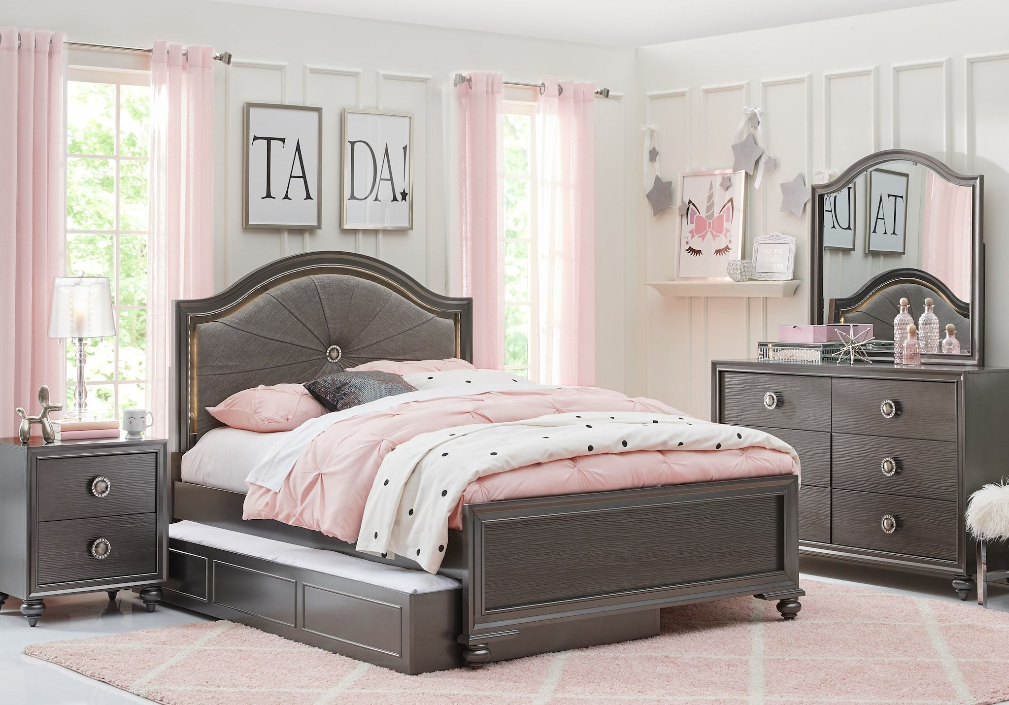 Girls Full Size Bedroom Sets with Double Beds | Jazzy new ...