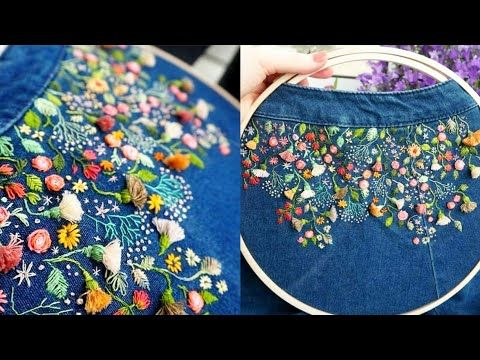 Handembroidery ideas/designs - YouTube