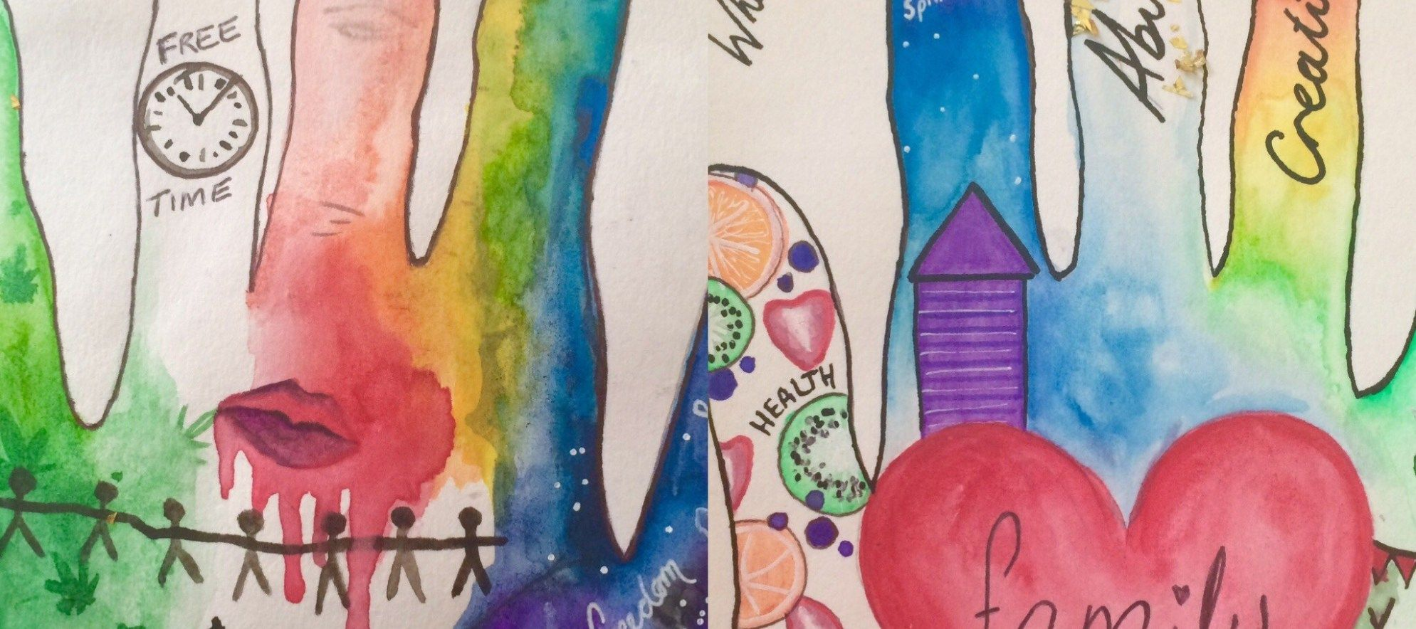 Hands Past And Future Art Therapy Activity