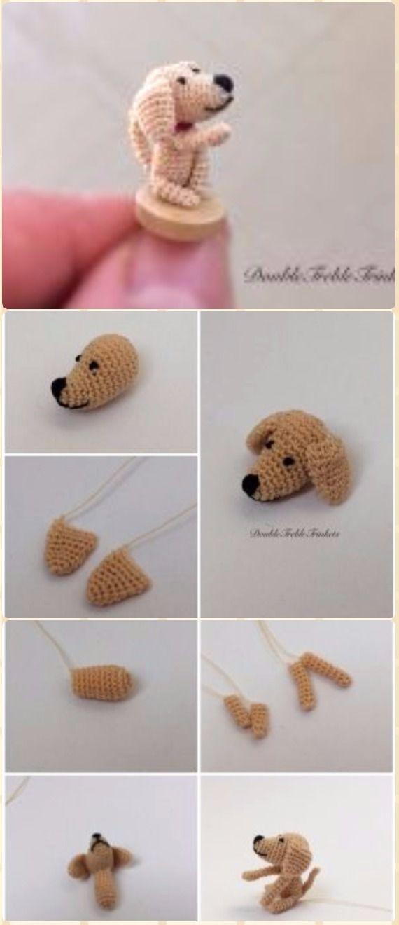 DIY Crochet Amigurumi Puppy Dog Stuffed Toy Free Patterns | Patrones ...