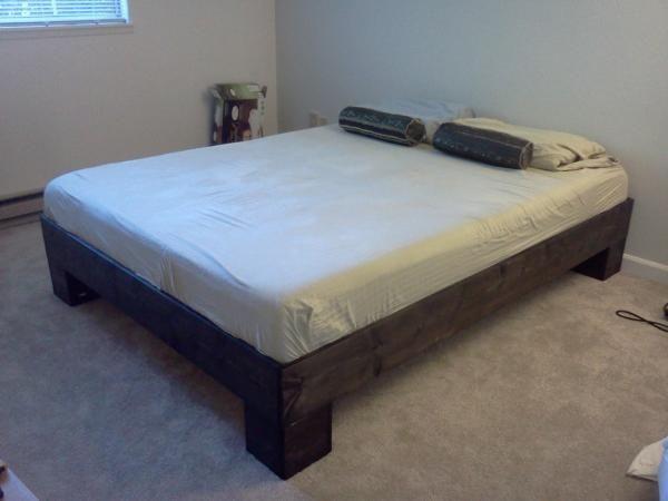 Chunky Leg Bed Frame Slightly Taller Do It Yourself Home
