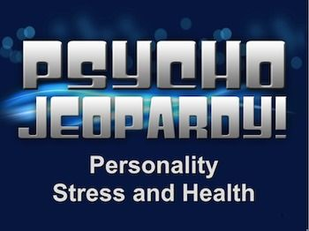 Its the end of the year, so suit up, grab your fake microphone and get ready to host Psycho Jeopardy to prepare for finals!!  This easy to use review Powerpoint game plays just like the TV game show. This game is fun and interactive for the whole class.