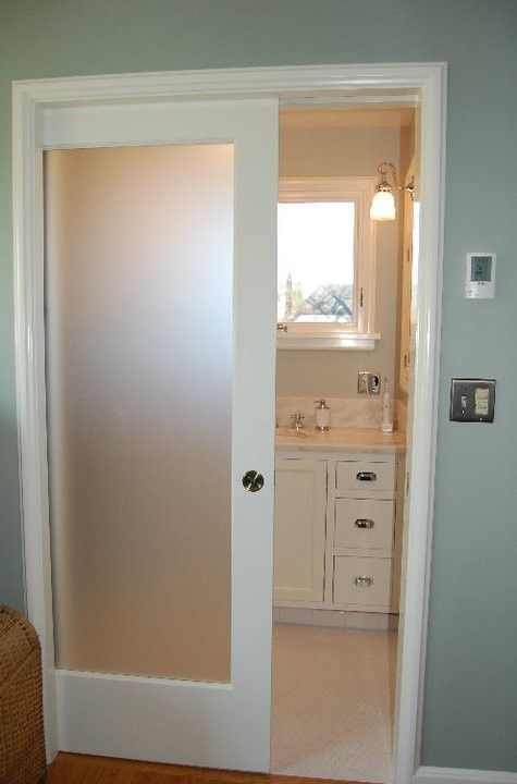 Translucent pocket door- love this for the bathroom. My mom is doing this for & Translucent pocket door- love this for the bathroom. My mom is doing ...