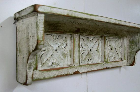 Antique Style Wall Shelf, Vintage Wall Shelf, Shabby Chic