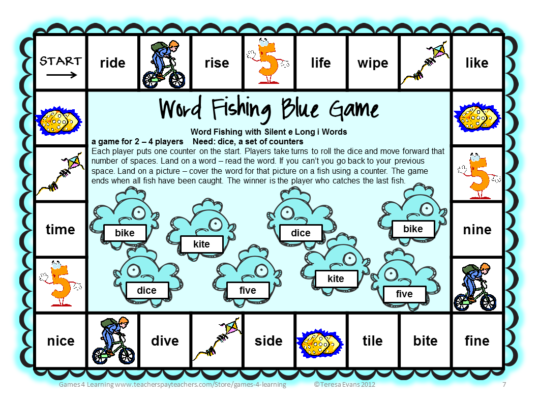 This is a graphic of Luscious Printable Phonics Games