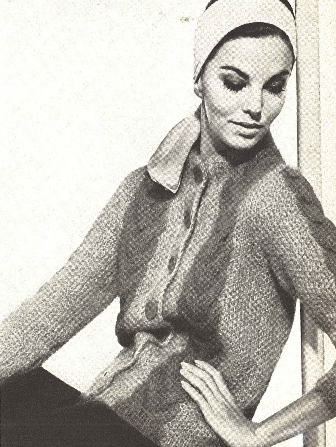 Mohair cardigan 1960s knitting cabled sweater coat jacket mohair cardigan 1960s knitting cabled sweater coat jacket pattern vintage vogue cable knit 1961 womans digital pdf bankloansurffo Choice Image