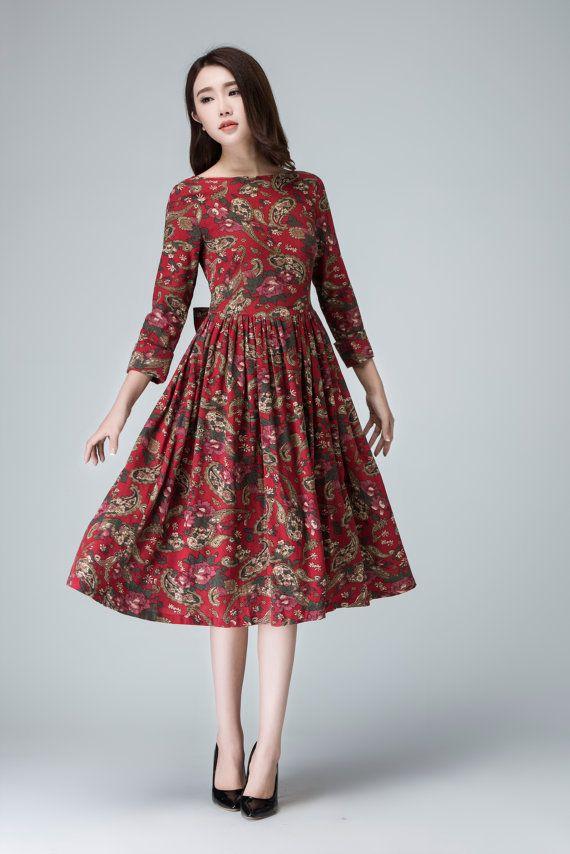 flower dress knee length dress womens dresses spring by xiaolizi ... 45e21c430