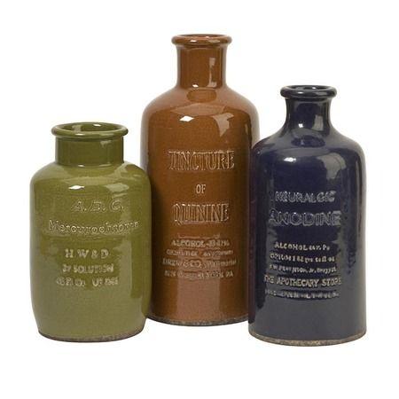 Vintage inspired elixir bottles