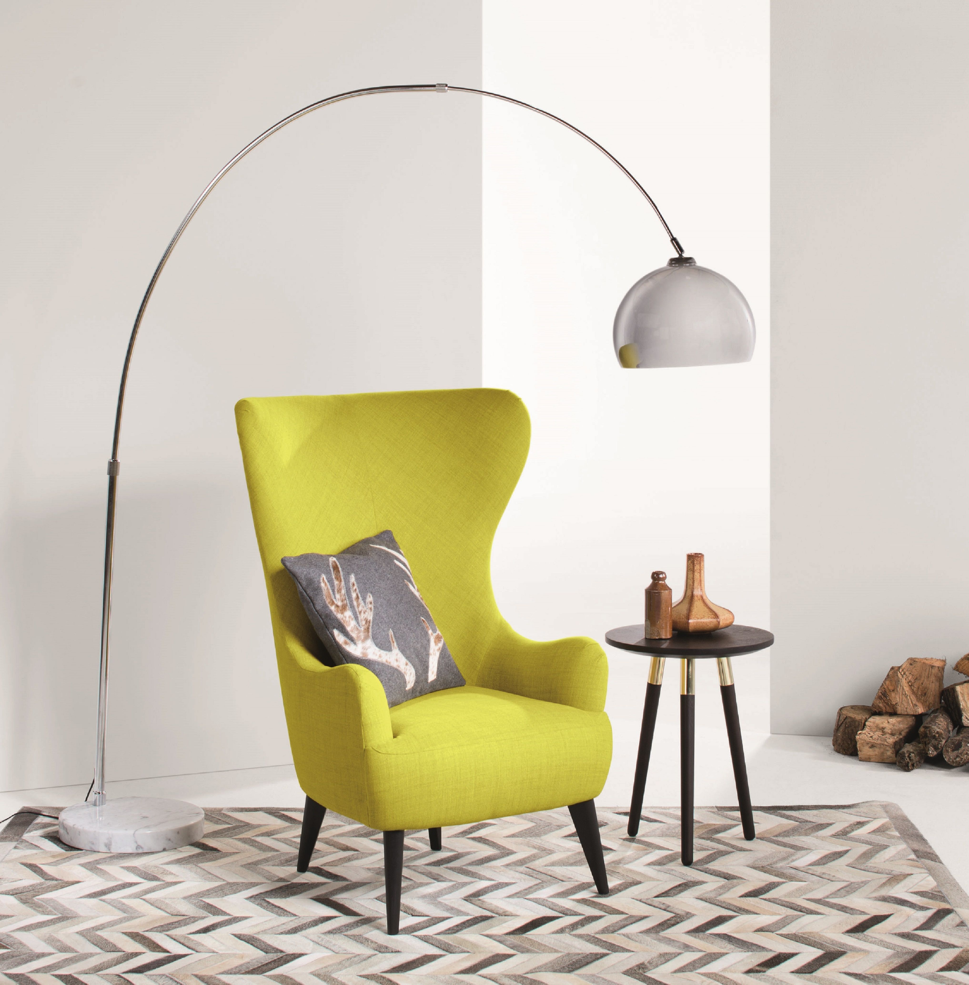 Bodil Chair, Light Moss Designed by Bodil Bjerkvik Blain, this statement armchair will be the centre of attention in your room. Tall-backed and winged, it's seriously impressive. £499   MADE.COM