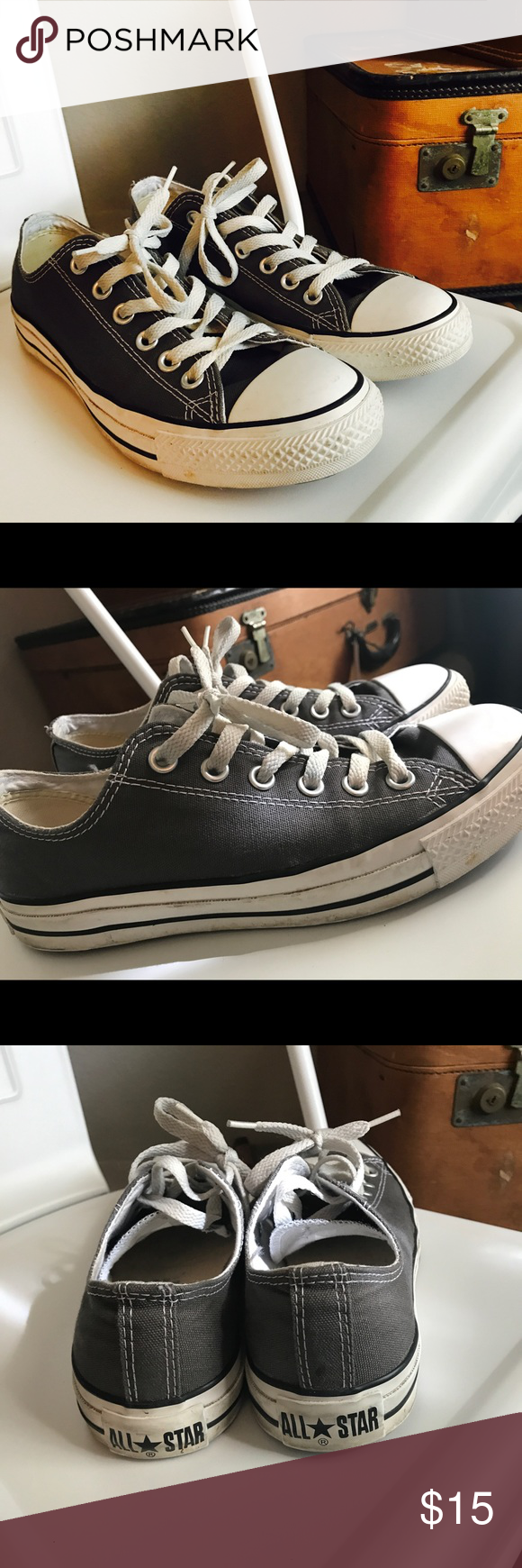0e9d465c253 Worn several times but in great condition! Normal scuffing along rubber  bottoms. Men s size 6- fits women 8-8.5. Converse Shoes Sneakers
