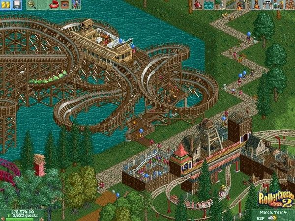 Rollercoaster Tycoon - spent way too many hours playing this
