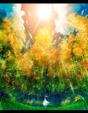 二次元 秋の風景と女の子 の画像イラスト 壁紙 Naver まとめ Anime Art Fantasy Anime Art Girl Art