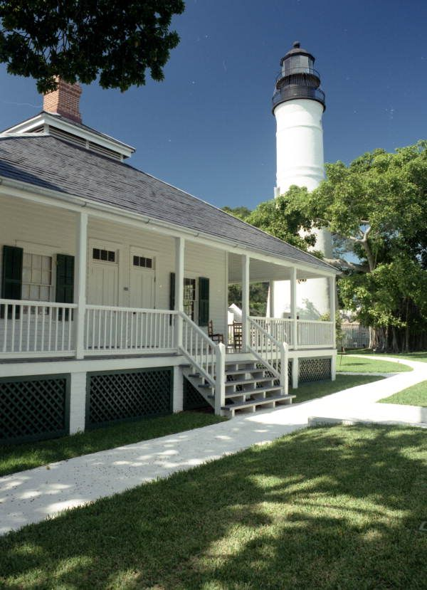 Key West Lighthouse with the lighthouse keepers quarters in