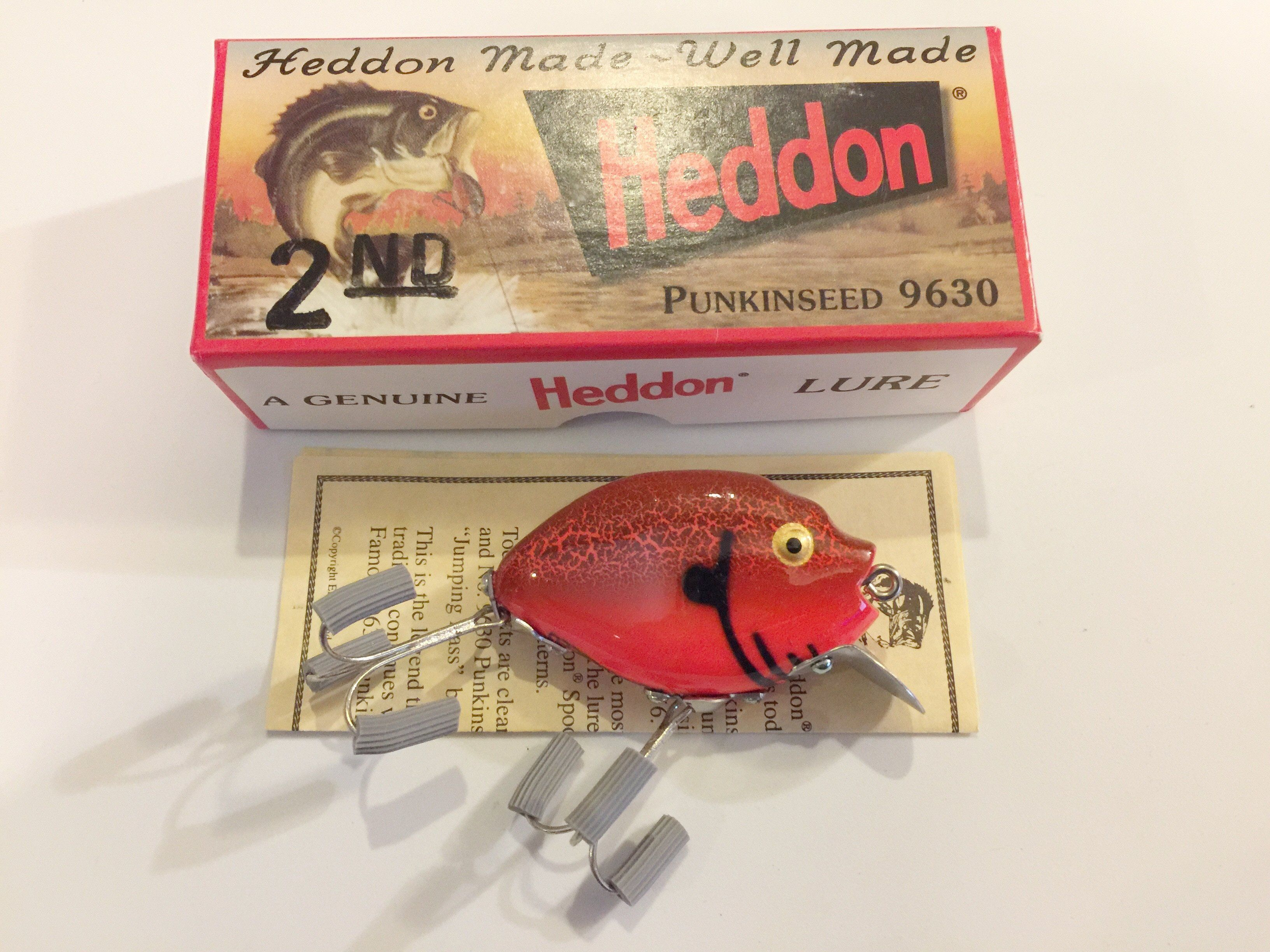 Heddon 9630 Punkinseed CBO Red Crayfish Color New in Box | Products ...